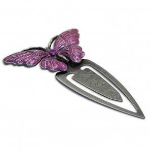 PEWTER BUTTERFLY BOOKMARK
