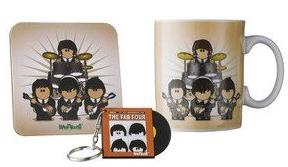 Weenicons The Fab Four Mug Coaster & Keyring set
