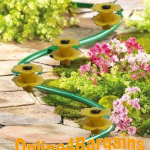 4 Yellow Daisy Hose Pipe Guides Lawn Protector