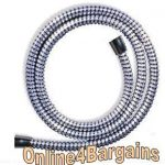 PVC Reinforced 1.25m Chrome Shower Hose
