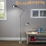 Simone Chrome Effect Pharmacy Study Floor Lamp
