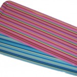 4x Stripe Melamine Food Summer Serving Trays