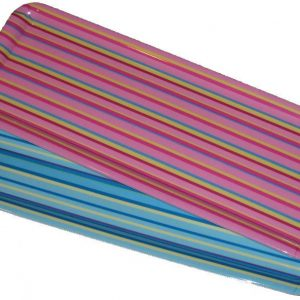 4x Stripe Melamine Food Summer Serving Trays