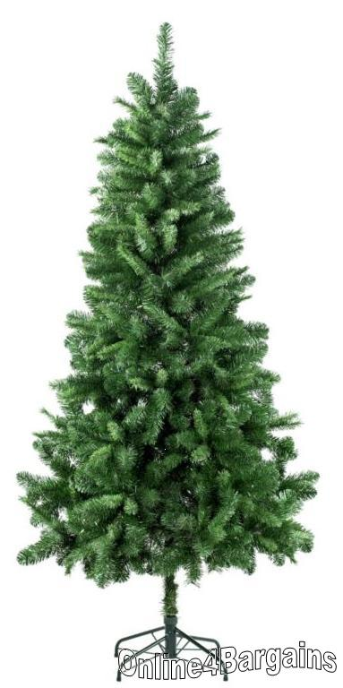 Vancouver 6Ft 6inch Slim Christmas Green Xmas Tree | Online4Bargains