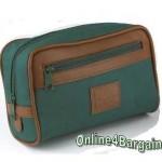 green toiletries bag