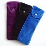 Soft velvety pen pouch