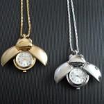 Ladybird Pocket Watch Pendant Necklace