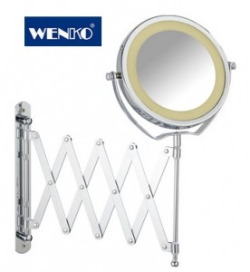WENKO BROLO LED Extendable Wall Mirror