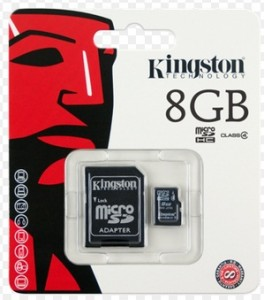 Kingston 8GB Micro SD Memory Card