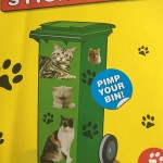 Wheelie bin cat stickers