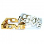 Metal 'LOVE' Square Bangle Bracelets