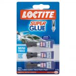 LOCTITE Mini Trio 3 x 1g Water Resistant Super Glue