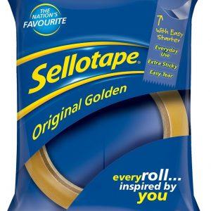 Sellotape Original Golden Non-Static Easy-Tear Tape Roll