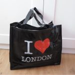 Ladies Souvenir PVC I Love London shopping bag