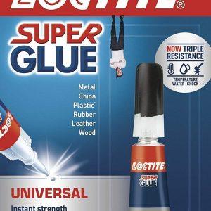 2x LOCTITE Universal Instant Strength Super Glue 3g