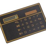 Ultra Slim Solar Powered Credit Card size Calculator