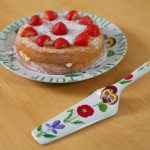 Flower Garden Bone China Cake Plate & Server Set