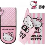 Hello Kitty Oven Glove & 2 Matching Cotton tea Towels