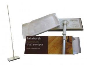 Sainsbury's Electrostatic Dust Sweeper with 10 disposable cloths