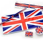 Union Jack School Kit Pencil case,Ruler,pencil,Sharpener