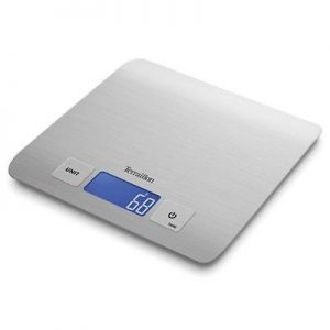 Terraillon Ultra Slim Stainless Steel Square 5 kg Electronic Kitchen Scales