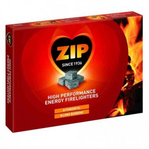 ZIP Firelighters One Box of 24 packs of 12