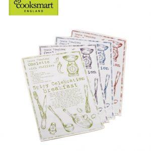 CookSmart set of 4x Cotton RecipeTea Towels