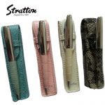 Stratton Faux Reptile Leather biro Pen & matching Pouch