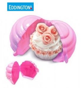 Eddingtons Pink Cupcake Keeper protector box