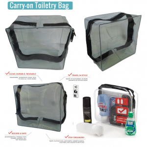 Airport security Multi-purpose clear cosmetic Carry on wash bag