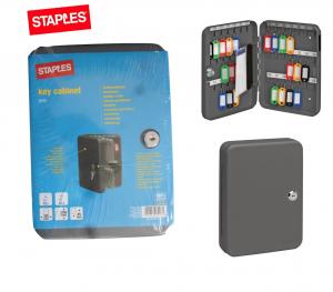Staples 42 Key Cabinet, Dark Grey key Safety storage box