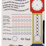 Tallon Children Merit Board With Wipe Off Pen/ Kids Reward Board