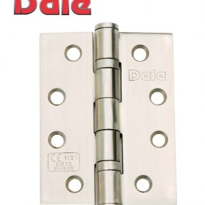 """DALE Satin Stainless Steel Door Butt Hinges 100 x 75 x 3mm (4"""" x 3"""")"""
