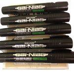 12x HAIJIAV Bi-Nib Alcohol based Black ink waterproof Permannet marker pens
