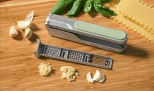 JDW 3 in 1 Aluminium sliding Garlic Ginger press crusher & slicer