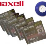 Maxell BD-RE Rewriteable Blu-ray CD Discs /Pack 5