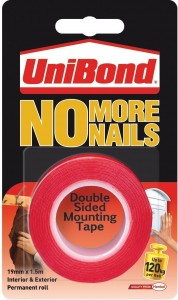 UniBond No More Nails Double Sided Mounting Tape - 19 mm x 1.5 m