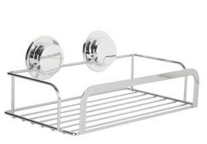 Croydex Stainless Steel Stick N Lock Shower Rack Caddy
