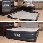 Yawn Luxury Raised Air Bed With Headboard - Single