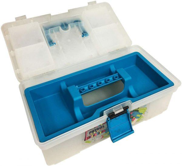 PATROL Decco 12'' multi-purpose DIY craft tool box Blue