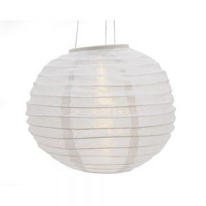 Lumineo 30cm chinese Style Waterproof Cloth LED solar lantern