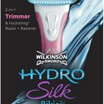 Wilkinson Sword Hydro Silk Bikini 2 in One Razor with Waterproof Trimmer for Women