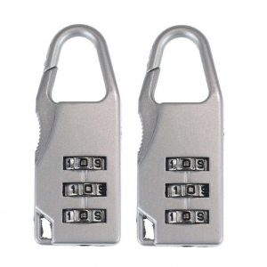3 Digit Resettable Combination Travel Luggage Suitcase Lock Padlock