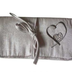 Heart Collection Travel Jewellery Roll with SWAROVSKI Elements