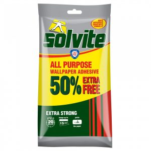 Solvite All Purpose Wallpaper Paste Extra Strong Adhesive