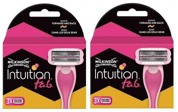 Wilkinson Sword Intuition FAB Women's Razor Blade Refills x3