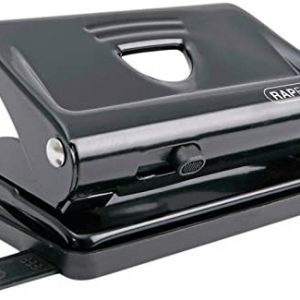 Rapesco 2-Hole Metal Punch with 12 Sheets Capacity - Black