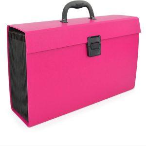 Rapesco Expanding Box File Document Organiser 19 Pocket – Hot Pink
