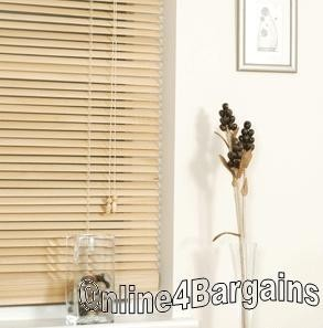 50x160cm Oak 25mm Universal PVC Venetian blinds