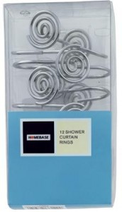 12 Swirl Chrome Shower Curtain Rings